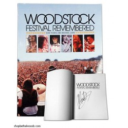 Autographed by Michael Lang! 'Woodstock Festival Remembered' By Jean Young