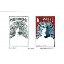 Godspell At Cherry Lane Theater: Sketch And Final: Original David Byrd Print