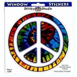 Tie Dye Peace Symbol Sticker