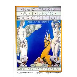New York Art Deco Exposition: Final: Original David Byrd Print
