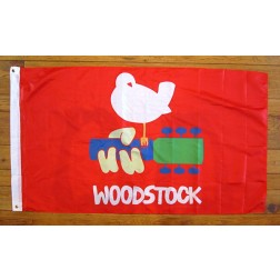 Official Woodstock Bird on Guitar Flag