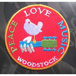 Woodstock Peace Love Music Patch