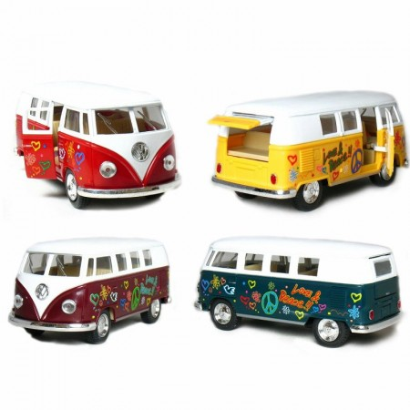 Happy Hippie Van Pullback Toy