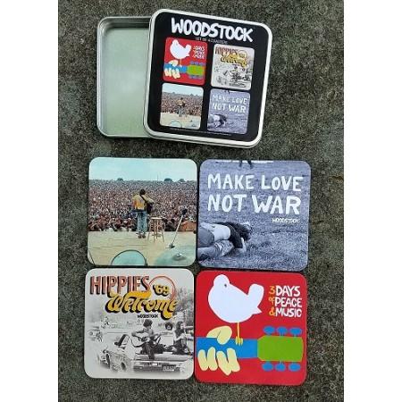 Set of 4 Woodstock Coasters