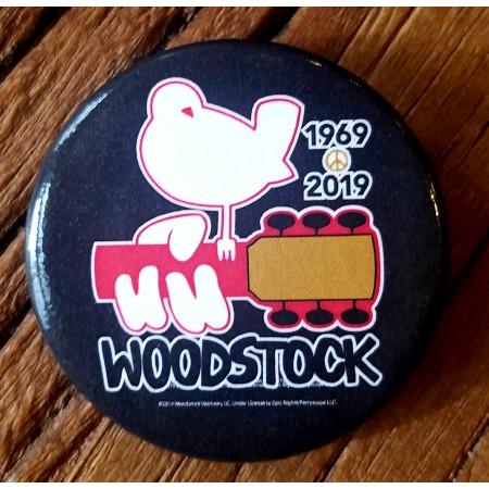 50th Anniversary Woodstock Button Black