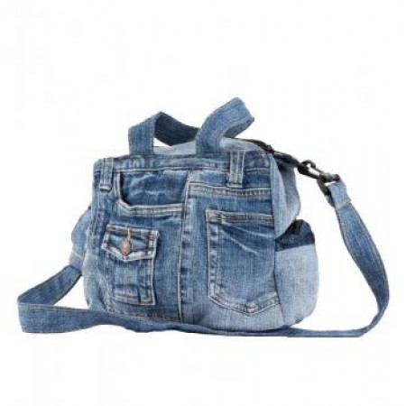 Small Vintage Jean Bag with Handles