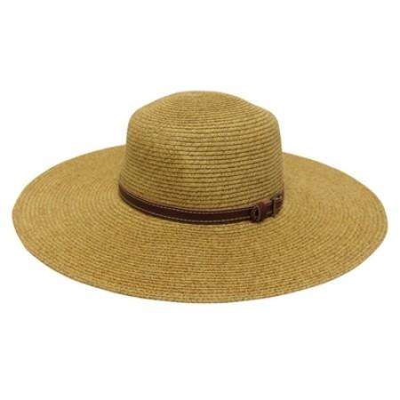 Belted Wide Brimmed Hat