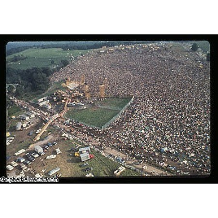 POSTER-WOODSTOCK AERIAL VIEW