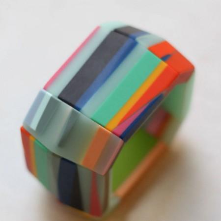 Multicolor Chunky Resin Bracelet