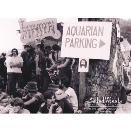 Original Woodstock Photo Postcard - Aquarian Parking Photo