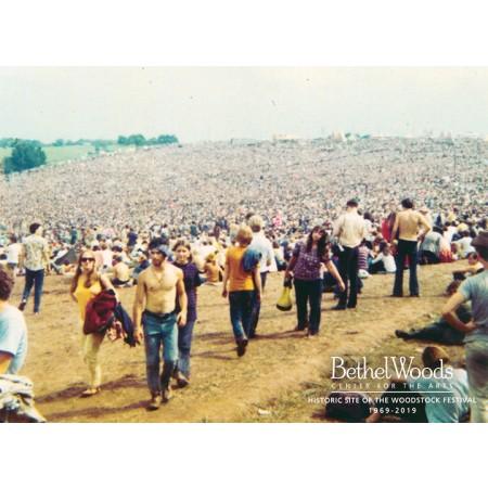 Original Woodstock Photo Postcard - Hippies in Color