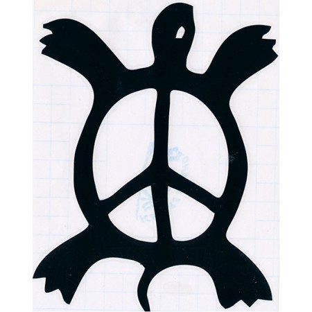 Turtle Peace Sign Window Sticker