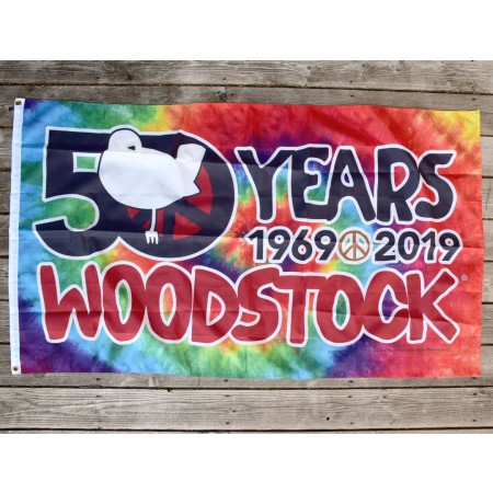 Woodstock 50th Anniversary Tie Dye Flag
