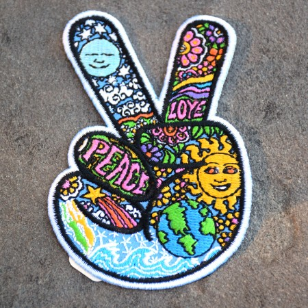 Peace Sign Iron-on Patch
