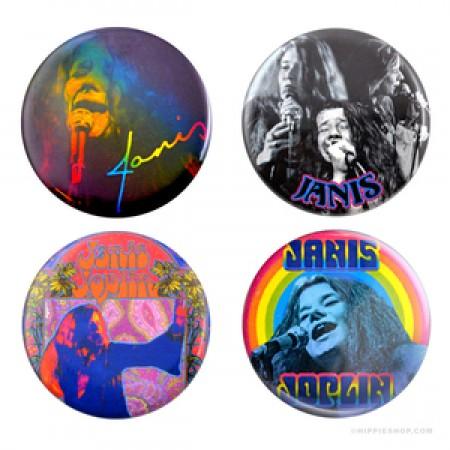 Janis Joplin 4 Pack Buttons
