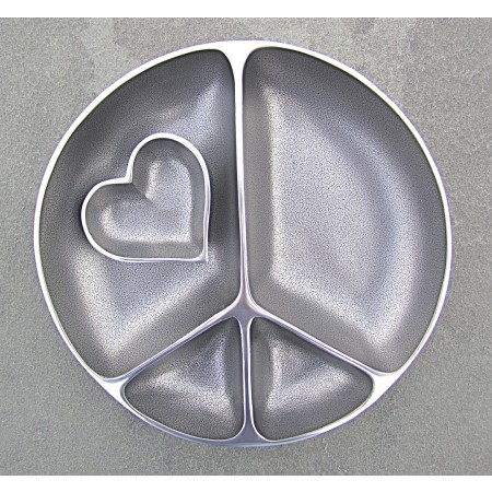 Serving Peace Platter with Heart Shaped Dish