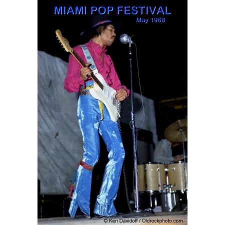 Jimi Hendrix Miami Pop Festival Photo Poster