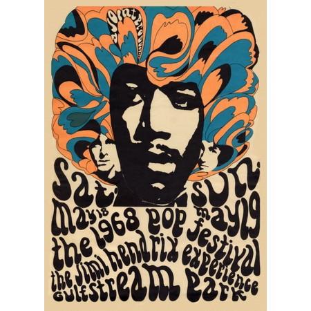 Jimi Hendrix Miami Pop Festival Poster