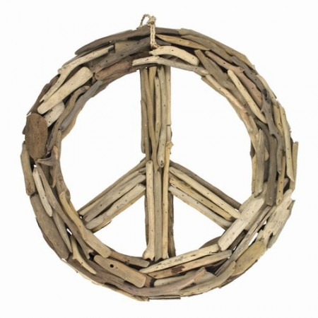 Driftwood Peace Sign Wall Hanging