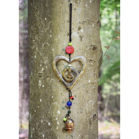 Heart Peace Bell Chime