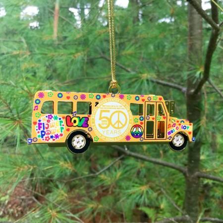 Metal 3D Bethel Woods Commemorative  Bus Ornament