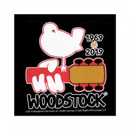 Woodstock Square Black Sticker
