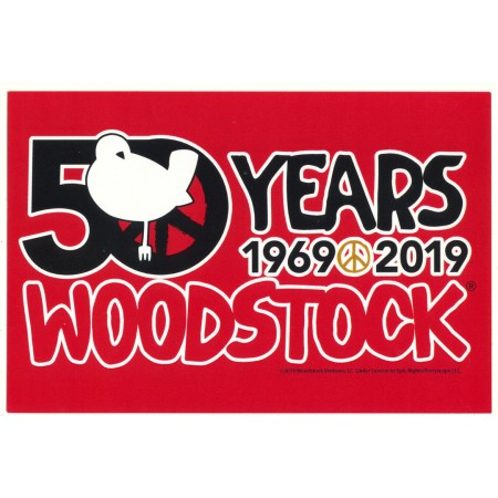Woodstock Rectangle Red Sticker