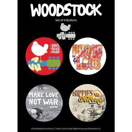 BUTTON-Woodstock Custom 4 Pack