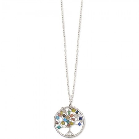 Stone Chip Tree of Life Necklace
