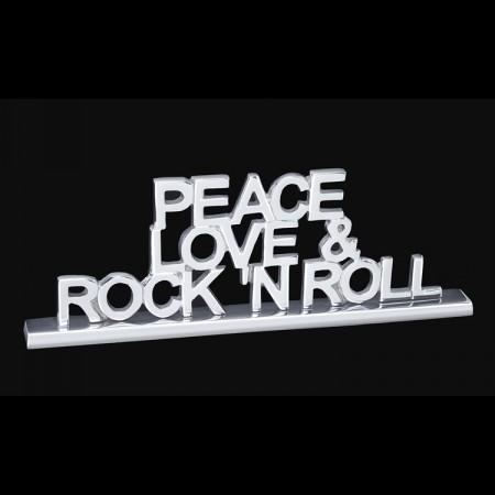 Peace Love & Rock & Roll Tabletop Display