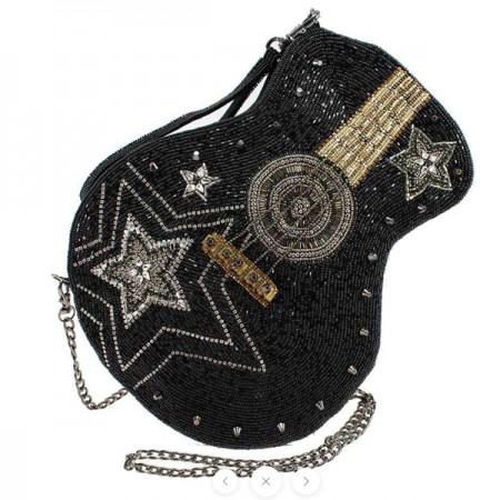 Bag-Superstar Beaded Guitar Crossbody Handbag