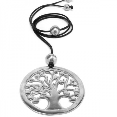 Necklace - Aluminum Tree of Life Necklace