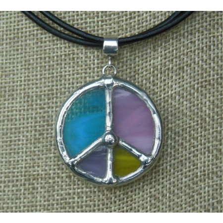 Necklace- Tiffany Multicolor Blue,Pink, Lilac, Yellow