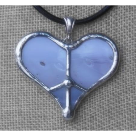 Necklace - Tiffany Peace Heart Lavender