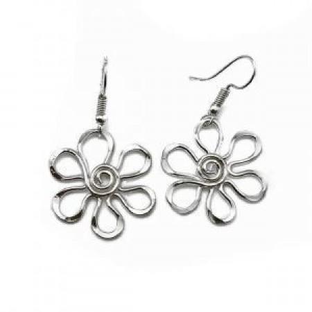 Earrings - Silver Daisy Earrings