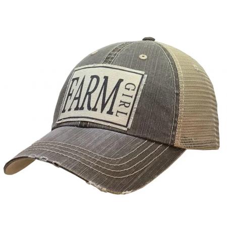 Farm Girl Distressed Trucker Cap