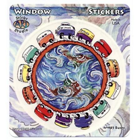 Busses Around The World Sticker