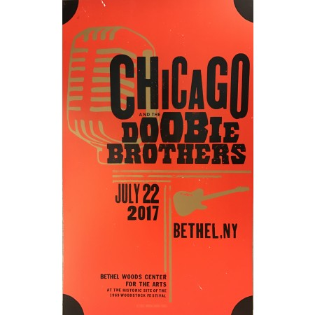 Chicago & The Doobie Brothers- Collectible Hatch Show Print