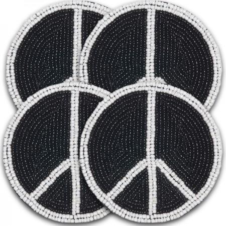 Coaster - Beaded Peace Coaster Set of 4