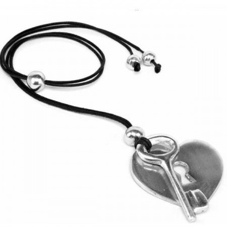 Necklace - Heart and Lock Pendant