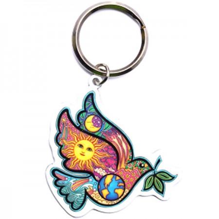 Keychain-Dove, Earth, Sun, Moon