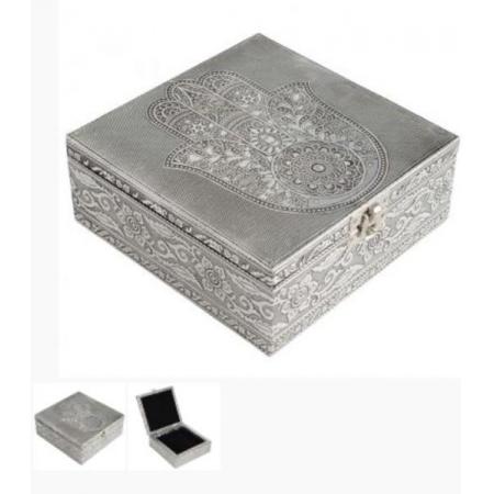 Box - Hamsa Siver Jewelry Box