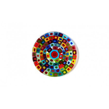 "Bowl - Mosaic Color Block 16"" Bowl"