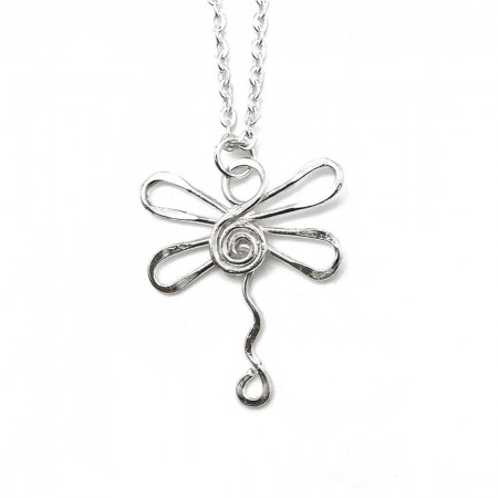 Necklace - Dragonfly Silver