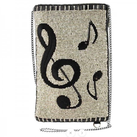 Bag-Well Noted Beaded Cell Phone Bag