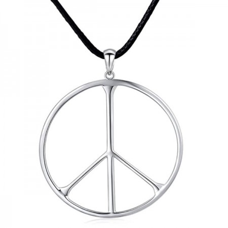 Necklace - Sterling Silver Peace Sign Pendant