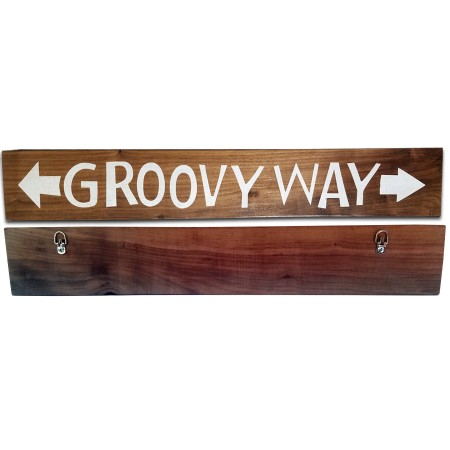 Groovy Way Historical Replica Wood Sign