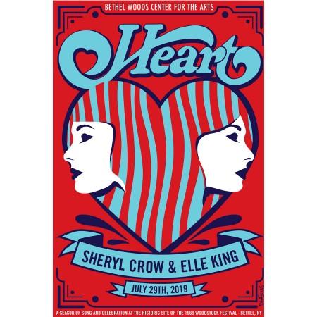 Heart 2019 Concert Poster