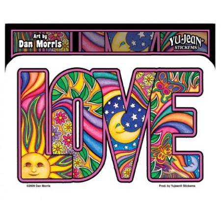 Sticker Dan Morris Love Psychadellic