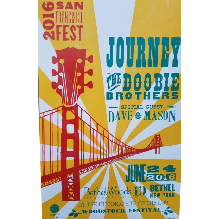 Journey & The Doobie Brothers - Collectible Hatch Show Print